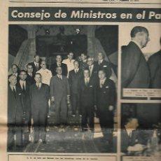 Coleccionismo Periódico La Vanguardia: AÑO 1954 CONSEJO DE MINISTROS EN EL PAZO DE MEIRAS PUBLICIDAD RELOJ DUWARD. Lote 9318054