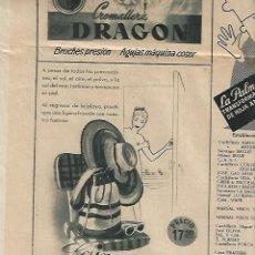 Coleccionismo Periódico La Vanguardia: AÑO 1954 VUELTA CICLISTA A CATALUÑA PUBLICIDAD CUCHILLOS PALMERA PERFUMES JUPER CREMALLERA DRAGON. Lote 9318885