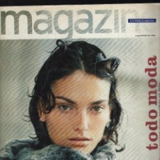 Collectionnisme Journal La Vanguardia: MAGAZINE DE LA VANGUARDIA (4 OCTUBRE 1998) · EN PORTADA: LAURA PONTE (148 PÁGINAS) · TODO MODA . Lote 177186559