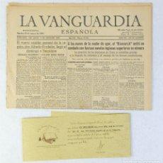 Coleccionismo Periódico La Vanguardia: PERIÓDICO LA VANGUARDIA, MARTES 27 DE MAYO EN 1941, BARCELONA. Lote 179196610