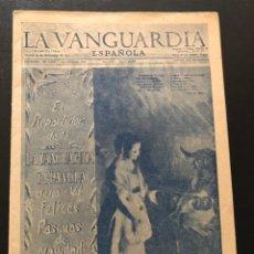 Coleccionismo Periódico La Vanguardia: FELICITACIÓN NAVIDAD Y AÑO NUEVO EL REPARTIDOR DE LA VANGUARDIA ESPAÑOLA 1953. Lote 180478110