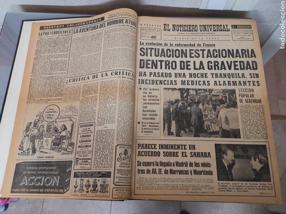 Coleccionismo Periódico La Vanguardia: Vol. ENCUADERNADO ENFERMEDAD Y MUERTE DE FRANCO 46X33cm - Foto 3 - 180975828