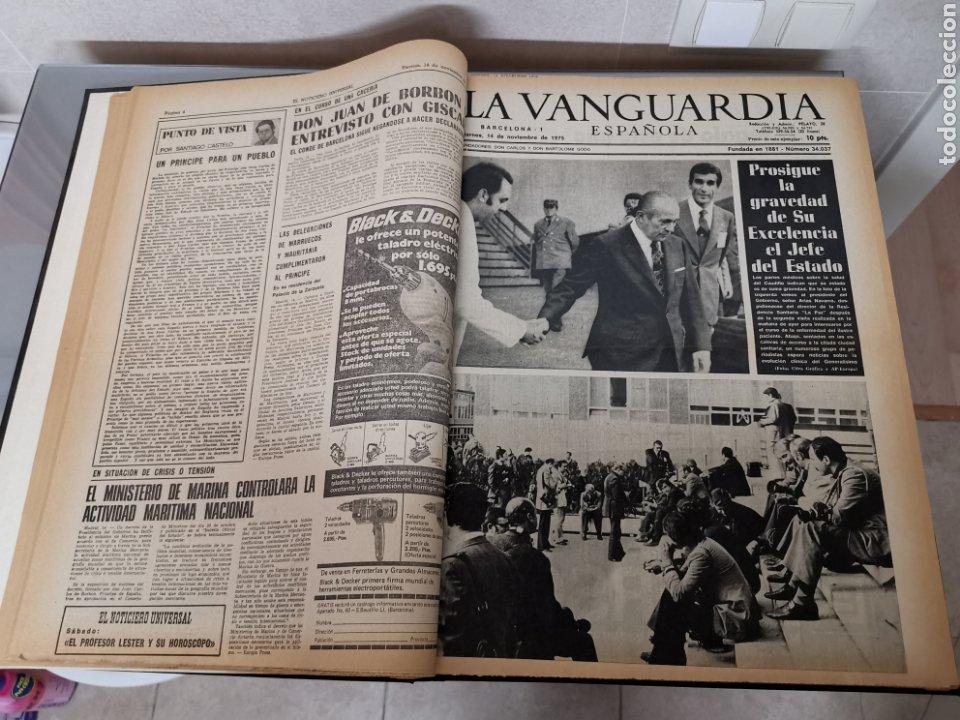 Coleccionismo Periódico La Vanguardia: Vol. ENCUADERNADO ENFERMEDAD Y MUERTE DE FRANCO 46X33cm - Foto 5 - 180975828