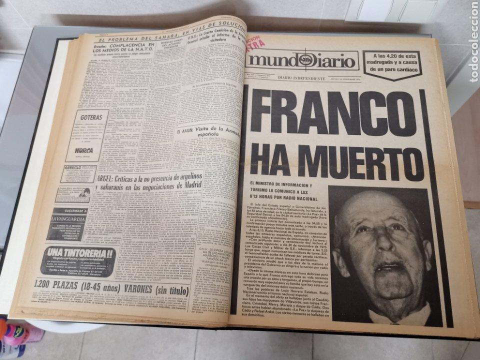 Coleccionismo Periódico La Vanguardia: Vol. ENCUADERNADO ENFERMEDAD Y MUERTE DE FRANCO 46X33cm - Foto 4 - 180975828