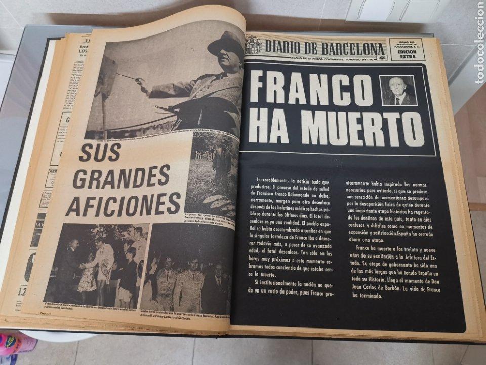 Coleccionismo Periódico La Vanguardia: Vol. ENCUADERNADO ENFERMEDAD Y MUERTE DE FRANCO 46X33cm - Foto 6 - 180975828