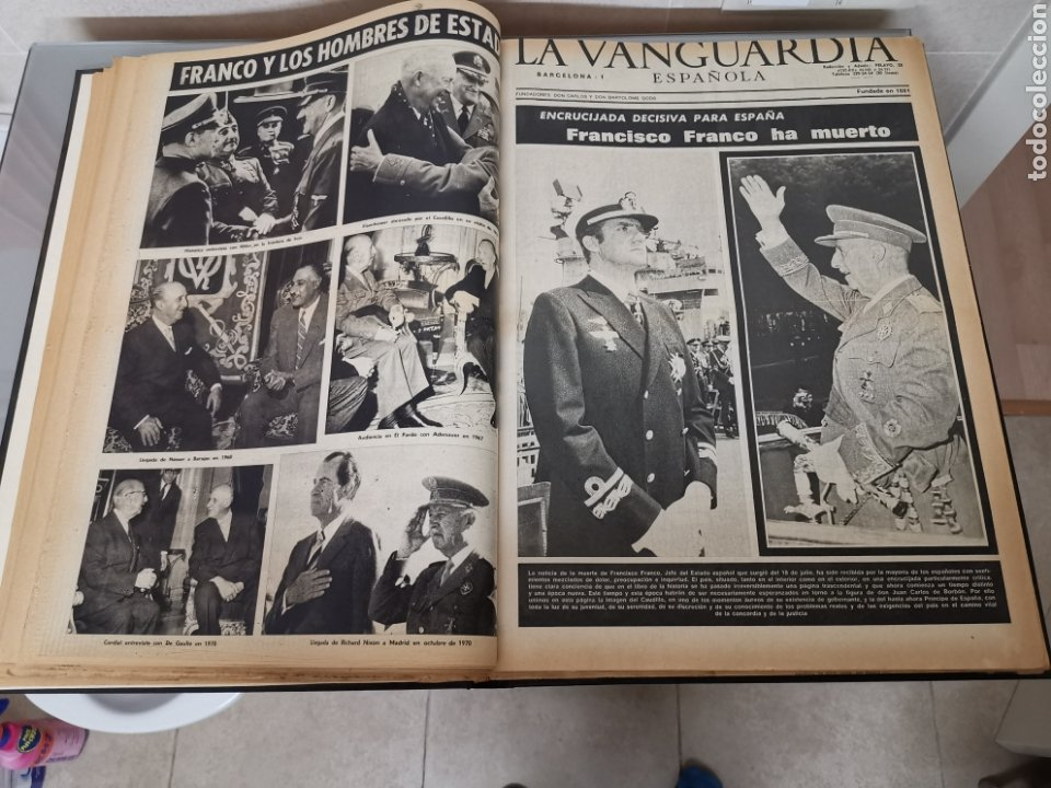 Coleccionismo Periódico La Vanguardia: Vol. ENCUADERNADO ENFERMEDAD Y MUERTE DE FRANCO 46X33cm - Foto 7 - 180975828
