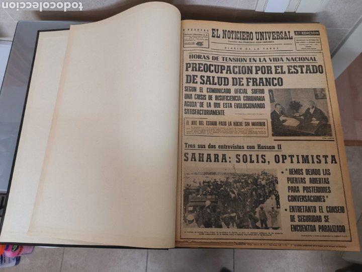 VOL. ENCUADERNADO ENFERMEDAD Y MUERTE DE FRANCO 46X33CM (Coleccionismo - Revistas y Periódicos Modernos (a partir de 1.940) - Periódico La Vanguardia)