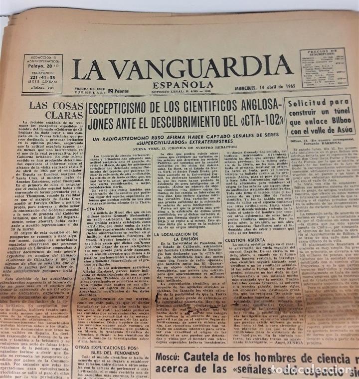 Coleccionismo Periódico La Vanguardia: LA VANGUARDIA ESPAÑOLA. 4 EJEMPLARES. MÀRIUS CAROL. BARCELONA. 1965/66. - Foto 6 - 181721007