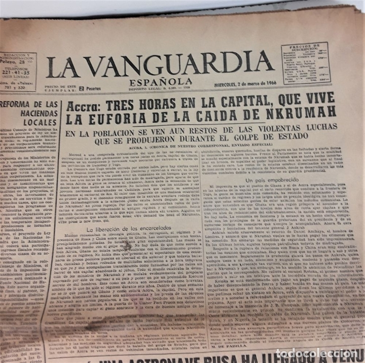 Coleccionismo Periódico La Vanguardia: LA VANGUARDIA ESPAÑOLA. 4 EJEMPLARES. MÀRIUS CAROL. BARCELONA. 1965/66. - Foto 10 - 181721007