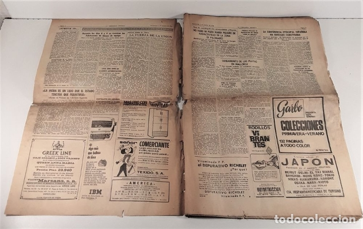 Coleccionismo Periódico La Vanguardia: LA VANGUARDIA ESPAÑOLA. 4 EJEMPLARES. MÀRIUS CAROL. BARCELONA. 1965/66. - Foto 11 - 181721007