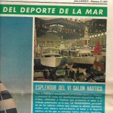Coleccionismo Periódico La Vanguardia: AÑO 1968 DEPORTES DEL MAR SALON NAUTICO REGATAS REMO SUBMARINISMO MEDALLAS NAVALES GUARDIAMARINA. Lote 10687018
