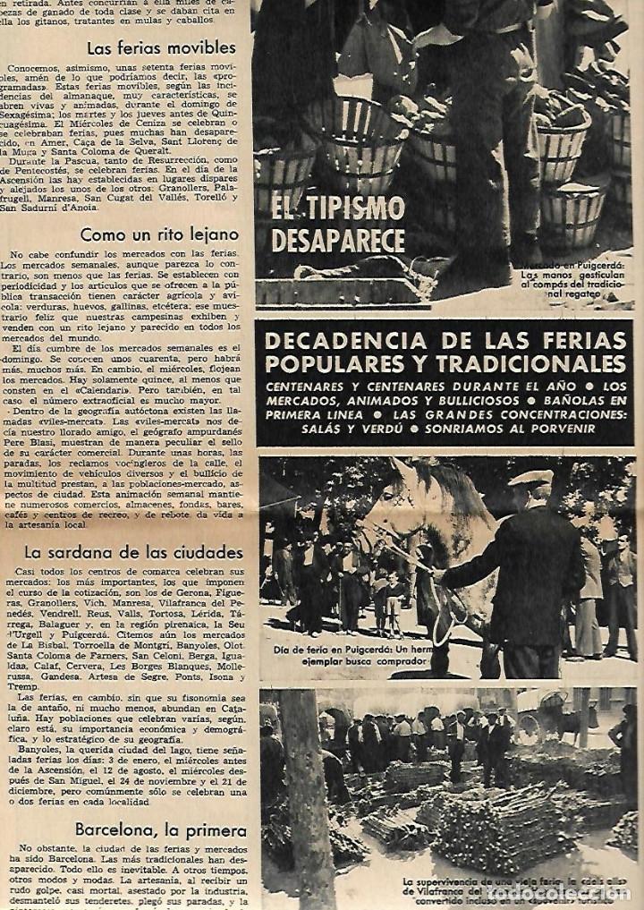 AÑO 1966 FERIA MUESTRAS BARCELONA REUS GIRONA LLEIDA FIESTAS POPULARES PUIGCERDA VILAFRANCA PENEDES (Coleccionismo - Revistas y Periódicos Modernos (a partir de 1.940) - Periódico La Vanguardia)