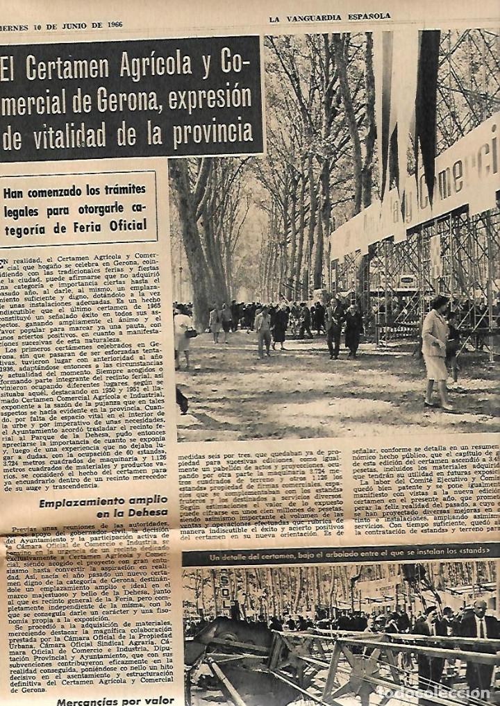 Coleccionismo Periódico La Vanguardia: AÑO 1966 FERIA MUESTRAS BARCELONA REUS GIRONA LLEIDA FIESTAS POPULARES PUIGCERDA VILAFRANCA PENEDES - Foto 4 - 10685594