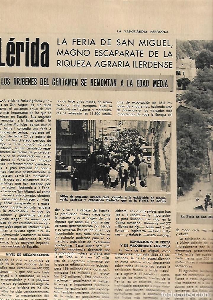 Coleccionismo Periódico La Vanguardia: AÑO 1966 FERIA MUESTRAS BARCELONA REUS GIRONA LLEIDA FIESTAS POPULARES PUIGCERDA VILAFRANCA PENEDES - Foto 5 - 10685594