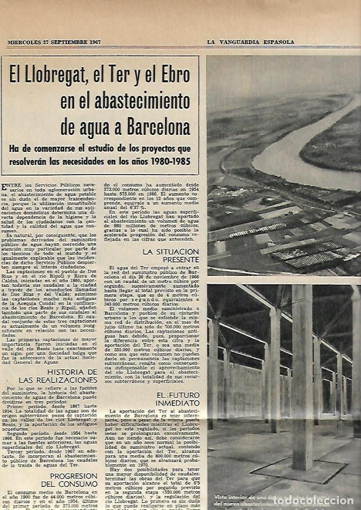 Coleccionismo Periódico La Vanguardia: AÑO 1967 EL HOY DE BARCELONA Y EL MAÑANA METRO PUBLICIDAD FLOID YOGUR RAM RELOJ OMEGA ZARZUELA RIBAS - Foto 4 - 10686902