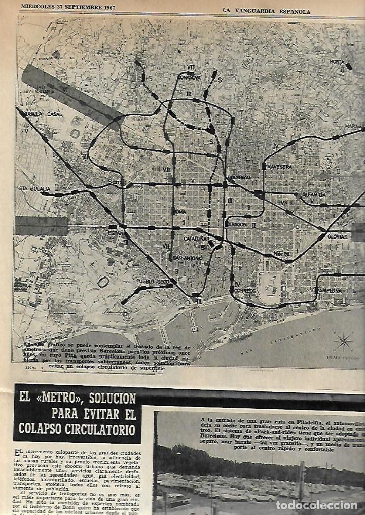 Coleccionismo Periódico La Vanguardia: AÑO 1967 EL HOY DE BARCELONA Y EL MAÑANA METRO PUBLICIDAD FLOID YOGUR RAM RELOJ OMEGA ZARZUELA RIBAS - Foto 2 - 10686902