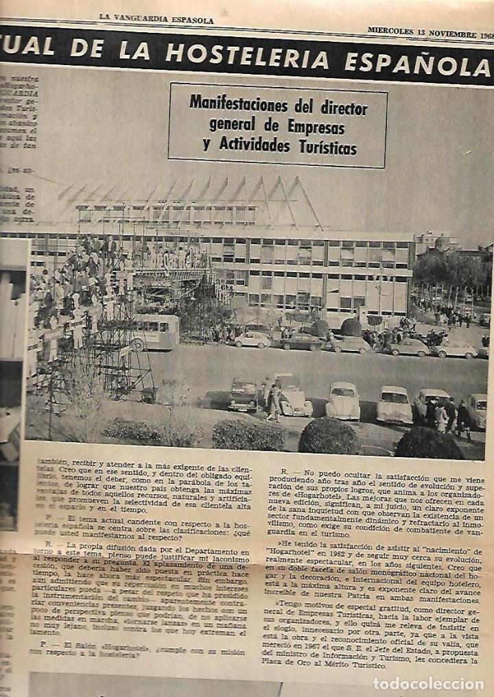 Coleccionismo Periódico La Vanguardia: 1968 HOGARHOTEL HOSTELERIA COCINA VINO SITJES PUBLICIDAD FREIXENET FERNET BRANCA JOHNNIE WALKER - Foto 3 - 10687348