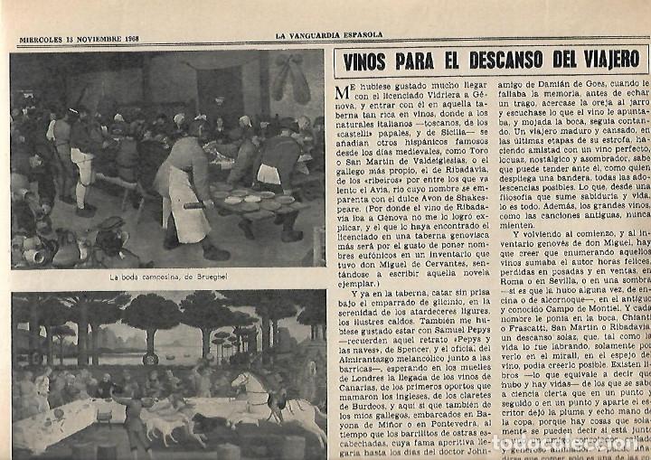 1968 HOGARHOTEL HOSTELERIA COCINA VINO SITJES PUBLICIDAD FREIXENET FERNET BRANCA JOHNNIE WALKER (Coleccionismo - Revistas y Periódicos Modernos (a partir de 1.940) - Periódico La Vanguardia)