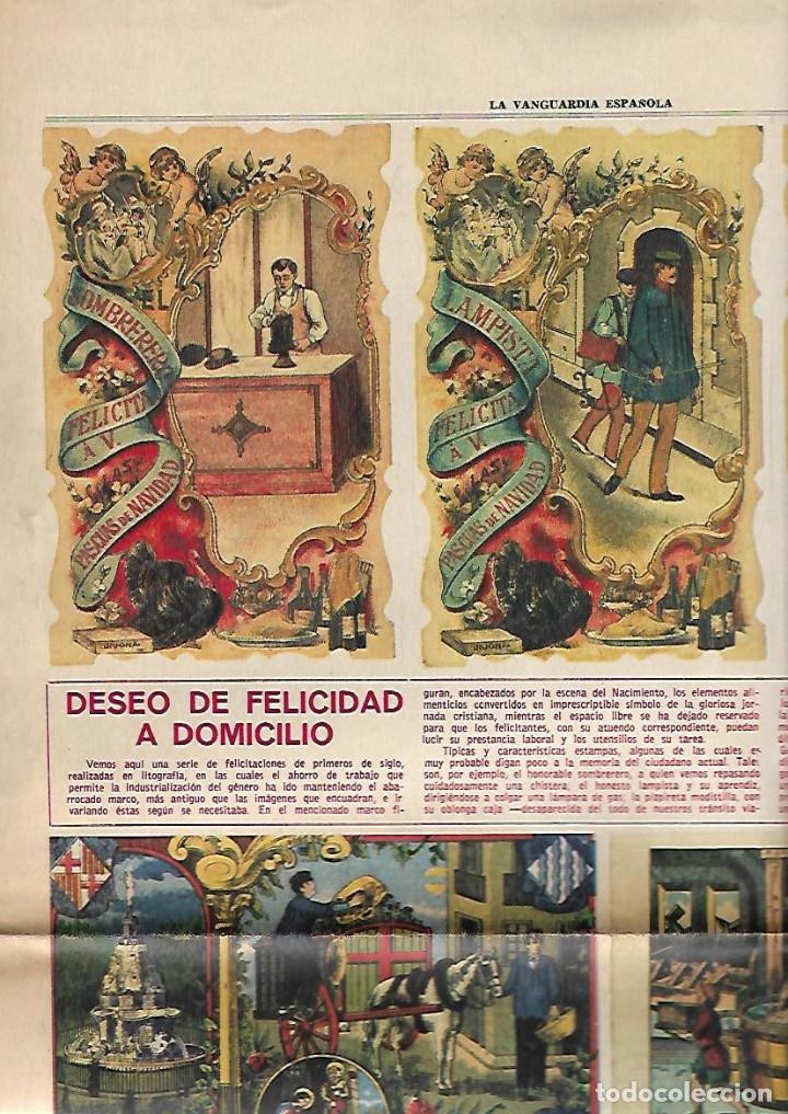 AÑO 1967 ESPECIAL NAVIDAD HISTORIA FELICITACION CHRISTMAS CODORNIU FREIXENET CARLOS III NESTLE PUBLI (Coleccionismo - Revistas y Periódicos Modernos (a partir de 1.940) - Periódico La Vanguardia)