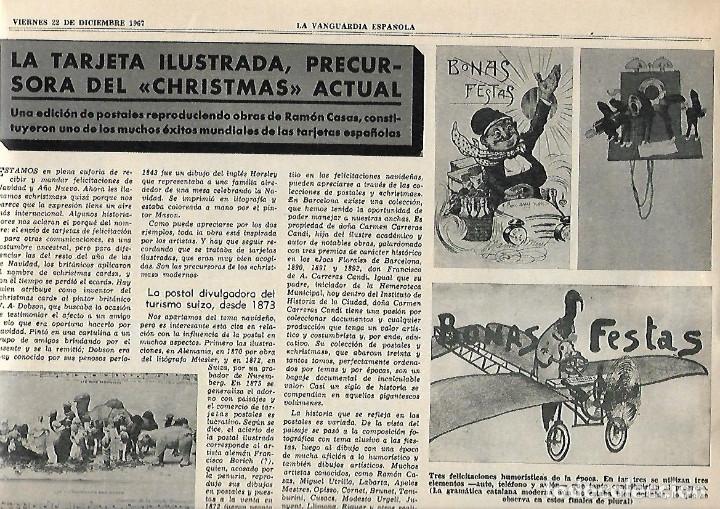 Coleccionismo Periódico La Vanguardia: AÑO 1967 ESPECIAL NAVIDAD HISTORIA FELICITACION CHRISTMAS CODORNIU FREIXENET CARLOS III NESTLE PUBLI - Foto 3 - 10713575