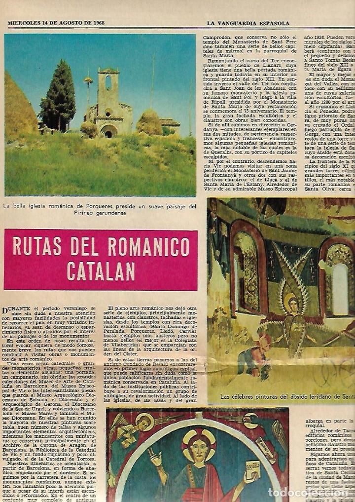 Coleccionismo Periódico La Vanguardia: AÑO 1968 ELS ENCANTATS CENTRE EXCURIONISTA CATALUNYA RUTAS ROMANICO VALL FERRERA PALLARS SOBIRA - Foto 3 - 10684791