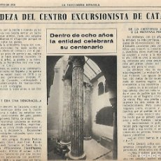Coleccionismo Periódico La Vanguardia: AÑO 1968 ELS ENCANTATS CENTRE EXCURIONISTA CATALUNYA RUTAS ROMANICO VALL FERRERA PALLARS SOBIRA. Lote 10684791