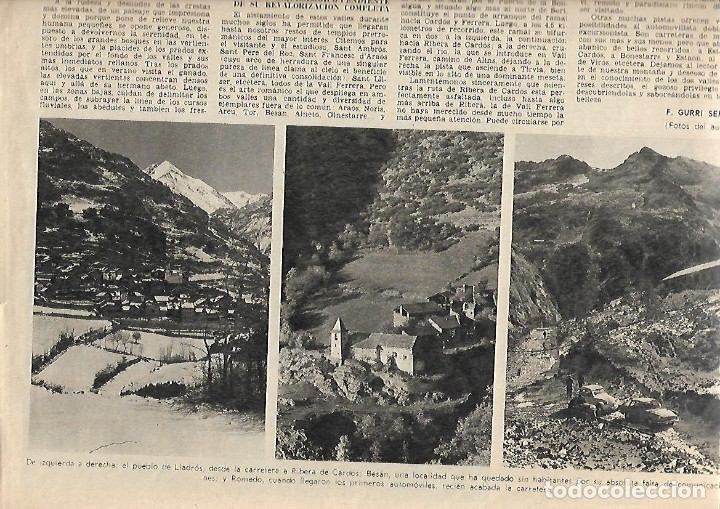 Coleccionismo Periódico La Vanguardia: AÑO 1968 ELS ENCANTATS CENTRE EXCURIONISTA CATALUNYA RUTAS ROMANICO VALL FERRERA PALLARS SOBIRA - Foto 5 - 10684791