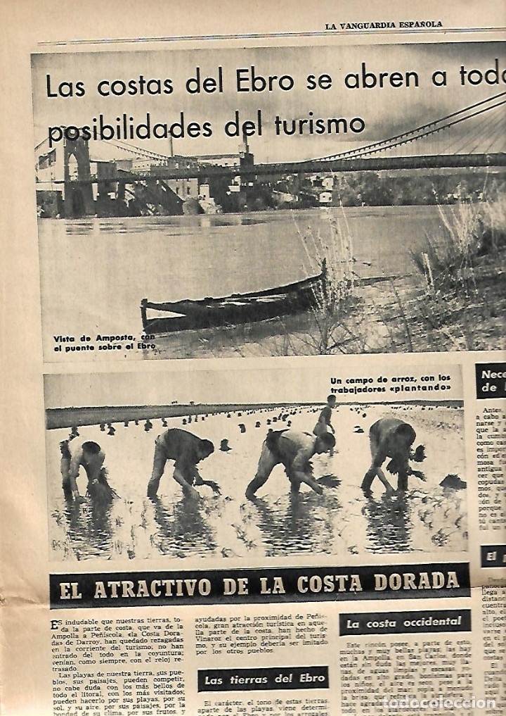 Coleccionismo Periódico La Vanguardia: AÑO 1965 ELS COLLEGATS OLOT FIGUERAS MONTSENY CERDANYA AMPOSTA PENISCOLA TURISMO DELTA EBRE - Foto 4 - 10713887
