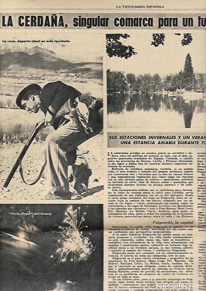AÑO 1965 ELS COLLEGATS OLOT FIGUERAS MONTSENY CERDANYA AMPOSTA PENISCOLA TURISMO DELTA EBRE (Coleccionismo - Revistas y Periódicos Modernos (a partir de 1.940) - Periódico La Vanguardia)