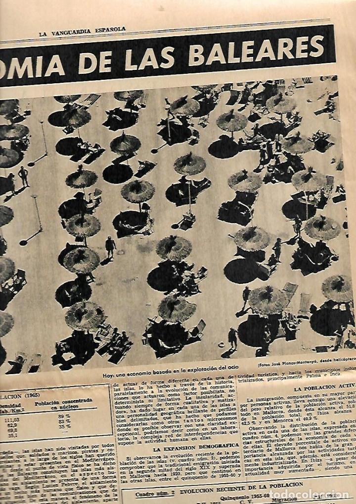 Coleccionismo Periódico La Vanguardia: 1966 BALEARES ECONOMIA TURISMO GENTES MENORCA CULTO AL DIOS TORO PUBLICIDAD LA LECHERA RELOJ OMEGA - Foto 2 - 10752907