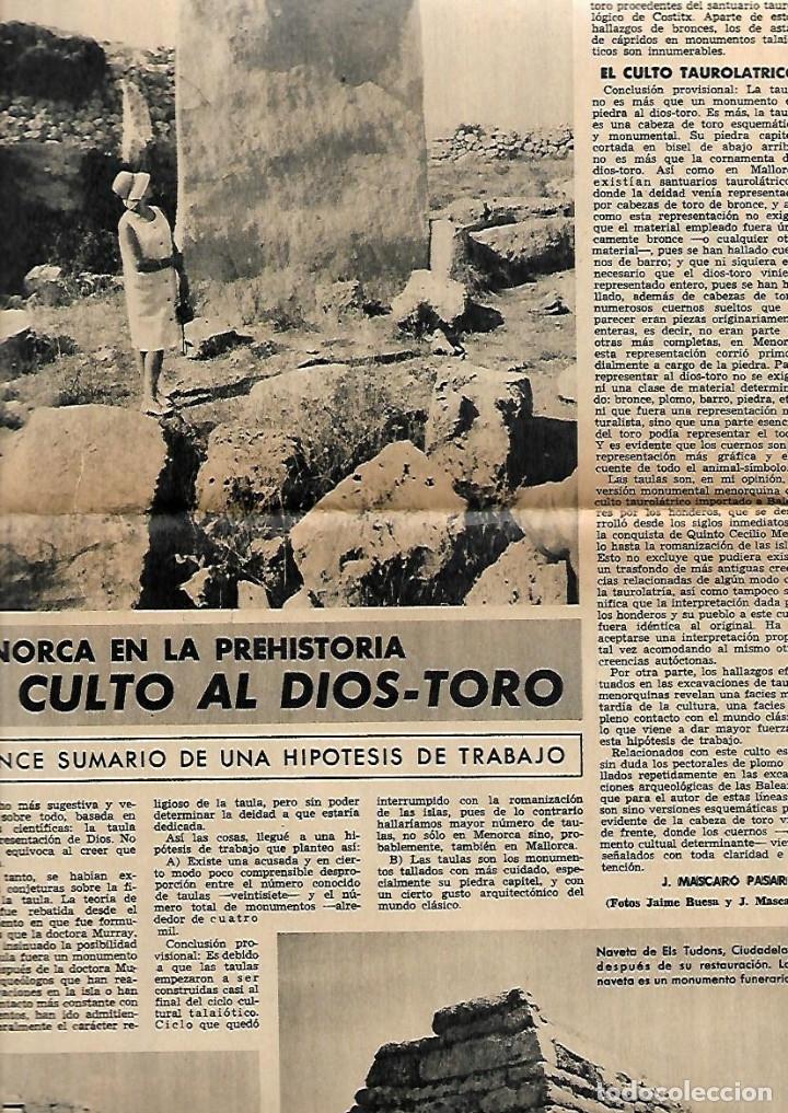 Coleccionismo Periódico La Vanguardia: 1966 BALEARES ECONOMIA TURISMO GENTES MENORCA CULTO AL DIOS TORO PUBLICIDAD LA LECHERA RELOJ OMEGA - Foto 3 - 10752907