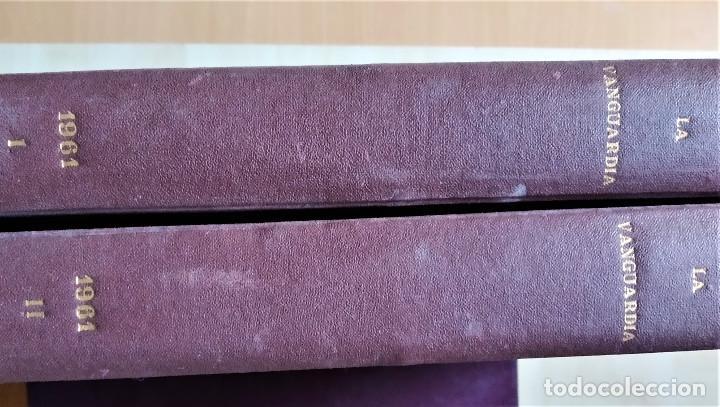 Coleccionismo Periódico La Vanguardia: Diario La Vanguardia 1961 encuadernado 2 tomos - Foto 2 - 183456025