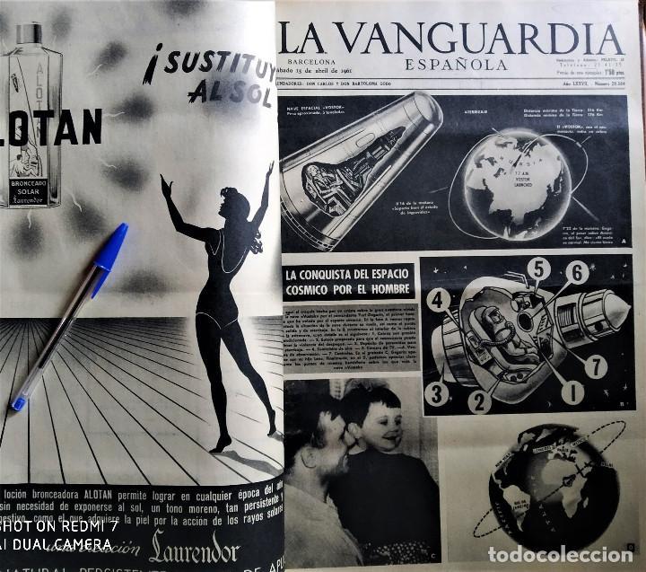 Coleccionismo Periódico La Vanguardia: Diario La Vanguardia 1961 encuadernado 2 tomos - Foto 3 - 183456025