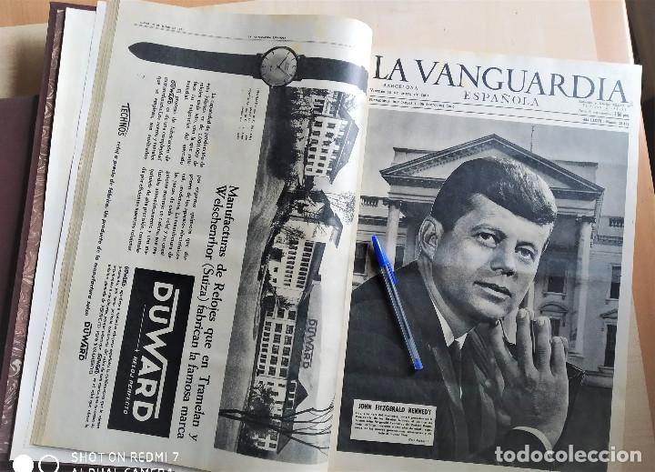 DIARIO LA VANGUARDIA 1961 ENCUADERNADO 2 TOMOS (Coleccionismo - Revistas y Periódicos Modernos (a partir de 1.940) - Periódico La Vanguardia)