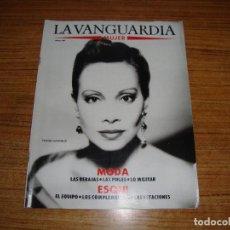 Coleccionismo Periódico La Vanguardia: REVISTA EL PERIODICO MUJER ENERO 1989 PORTADA PALOMA SAN BASILIO. Lote 186083415