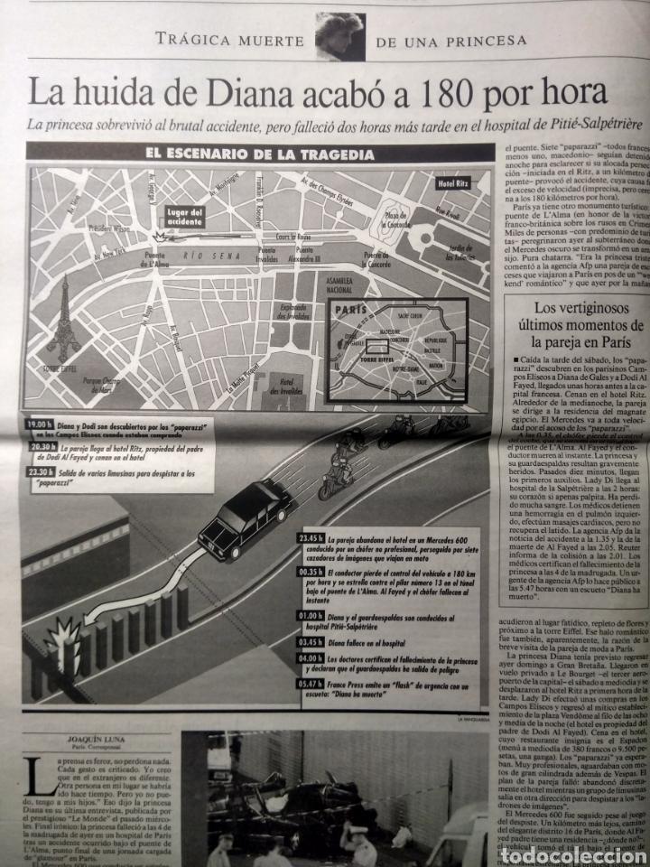Coleccionismo Periódico La Vanguardia: 1997. La Vanguardia. La muerte de Diana. - Foto 2 - 189523221
