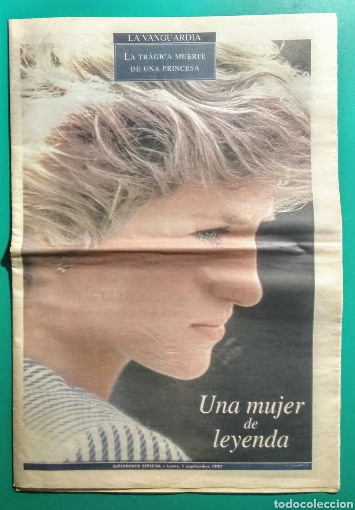 1997. LA VANGUARDIA. LA MUERTE DE DIANA. (Coleccionismo - Revistas y Periódicos Modernos (a partir de 1.940) - Periódico La Vanguardia)