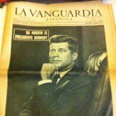 Colecionismo Jornal La Vanguardia: LA VANGUARDIA- HA MUERTO EL PRESIDENTE KENNEDY - 23 NOVIEMBRE 1963. Lote 190598183