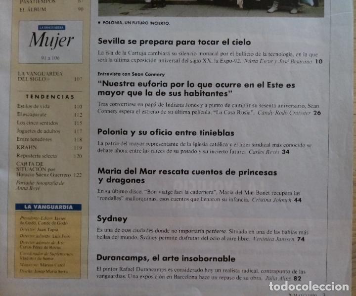 Coleccionismo Periódico La Vanguardia: REVISTA LA VANGUARDIA MAGAZINE - MAYO 1990 - SEVILLA ESCAPARATE DE LA EXPO - Foto 4 - 190752232