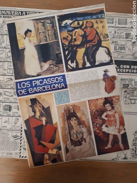 Coleccionismo Periódico La Vanguardia: La Vanguardia Española. Sólo páginas reportaje Picasso abril 1973 - Foto 2 - 190796800