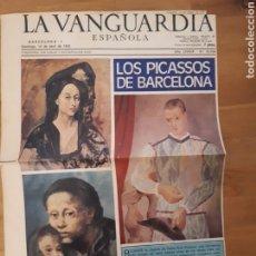 Coleccionismo Periódico La Vanguardia: LA VANGUARDIA ESPAÑOLA. SÓLO PÁGINAS REPORTAJE PICASSO ABRIL 1973. Lote 190796800