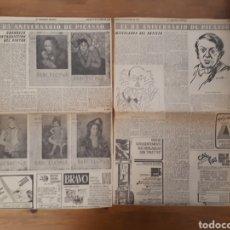 Coleccionismo Periódico La Vanguardia: LA VANGUARDIA ESPAÑOLA. SÓLO PÁGINAS REPORTAJE PICASSO OCTUBRE 1966. Lote 190796918