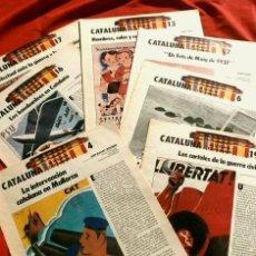 Coleccionismo Periódico La Vanguardia: CATALUÑA EN LA GUERRA CIVIL ESPAÑOLA (1986) 7 FASCICULOS Nº 4, 6, 7, 13, 16, 17, 19 - LA VANGUARDIA. Lote 191391732