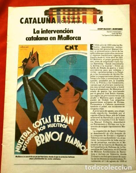 Coleccionismo Periódico La Vanguardia: CATALUÑA EN LA GUERRA CIVIL ESPAÑOLA (1986) 7 FASCICULOS nº 4, 6, 7, 13, 16, 17, 19 - LA VANGUARDIA - Foto 3 - 191391732