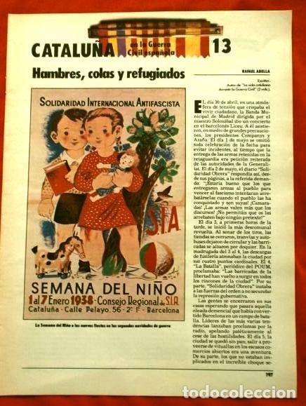 Coleccionismo Periódico La Vanguardia: CATALUÑA EN LA GUERRA CIVIL ESPAÑOLA (1986) 7 FASCICULOS nº 4, 6, 7, 13, 16, 17, 19 - LA VANGUARDIA - Foto 12 - 191391732
