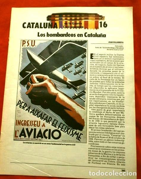 Coleccionismo Periódico La Vanguardia: CATALUÑA EN LA GUERRA CIVIL ESPAÑOLA (1986) 7 FASCICULOS nº 4, 6, 7, 13, 16, 17, 19 - LA VANGUARDIA - Foto 15 - 191391732