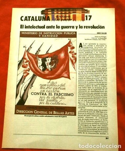 Coleccionismo Periódico La Vanguardia: CATALUÑA EN LA GUERRA CIVIL ESPAÑOLA (1986) 7 FASCICULOS nº 4, 6, 7, 13, 16, 17, 19 - LA VANGUARDIA - Foto 18 - 191391732