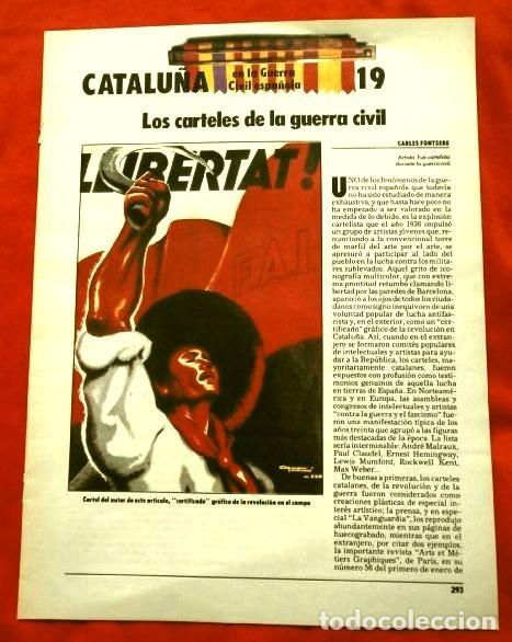 Coleccionismo Periódico La Vanguardia: CATALUÑA EN LA GUERRA CIVIL ESPAÑOLA (1986) 7 FASCICULOS nº 4, 6, 7, 13, 16, 17, 19 - LA VANGUARDIA - Foto 20 - 191391732