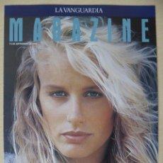 Coleccionismo Periódico La Vanguardia: RECORTE LA VANGUARDIA MAGAZINE 12-09-1993: DARL HANNAH, LA NOVIA DE JOHN F. KENNEDY JÚNIOR (1 HOJA). Lote 191431755
