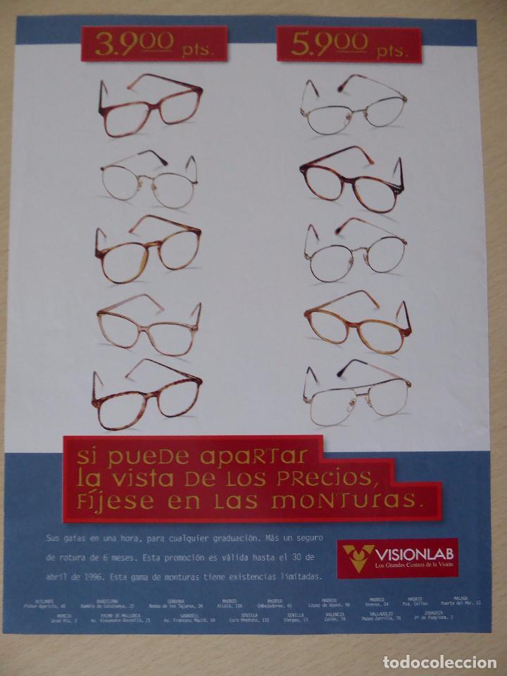 Coleccionismo Periódico La Vanguardia: Recorte La Vanguardia Magazine (31-03-1996): portada Valeria Mazza - Foto 2 - 191431776